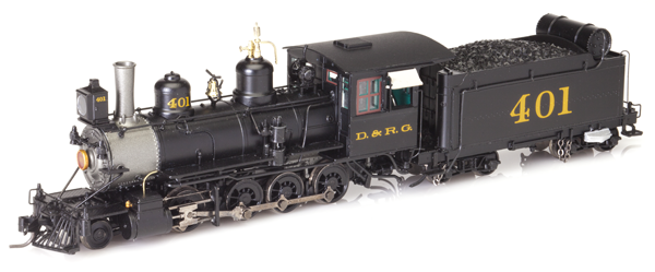 Blackstone HOn3 D&RGW C-19 #401, Late 1910's Paint, Weathered