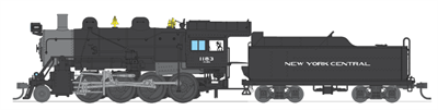 BLI HO 2-8-0 Consolidation, NYC #1183, Paragon2 Sound/DC/DCC